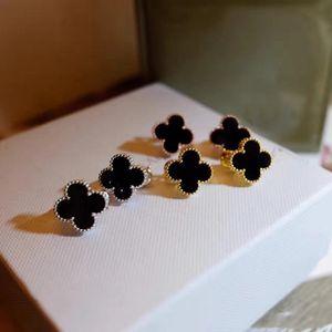 Топ латунный материал дизайн париж серьги клип с природой оболочки и агата Стон в 1.6cm форме цветка для женщин ювелирные изделия серьги подарок бренда