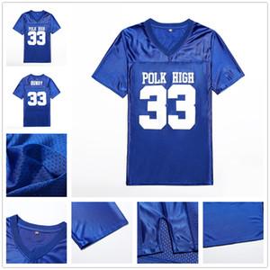 Casado con los niños # 33 Al Bundy Al Bundy jerseys S-XXXL Azul alto de Polk fútbol jerseys Stiched Hombres