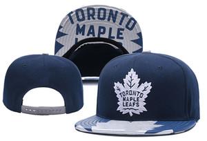 Gorros de punto de hockey sobre hielo de Toronto Maple Leafs Bordado Sombrero ajustable Gorros Snapback bordados Azul Marino Negro Sombreros cosidos Un tamaño