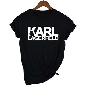2019 Karl Designer Stampato Womens magliette Lagerfeld O-collo corto donne manica parti superiori delle signore di estate RIP T casuali