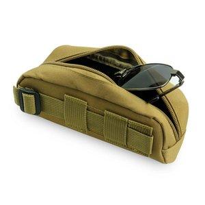 165 * 51 * 76mm Moda Tactical Sunglasses Case Portable Caza Gafas al aire libre Camuflaje bolsa con cremallera caja de lentes 10 unids / lote