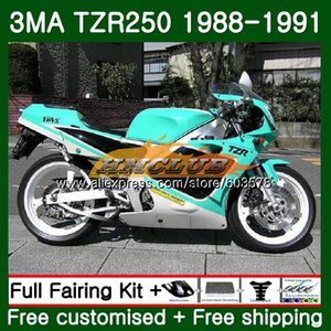 Para corpo TZR250 3MA TZR250 1988 1989 1990 1991 121CL.34 TZR250RR TZR250 YPVS TZR 250 88 89 90 91 carenagem branco Ciano