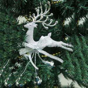 Silver Gold Xmas Baubles Chital Albero di Natale Renna Decor Partito Hanging Elk Argento Albero di Natale rosso Decor