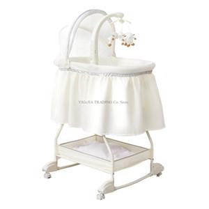 Multifunctional Cute Newborn Baby Crib, Portable Travel Crib, Sweet Beginnings Bassinet, Foldable Baby Cradle Bed
