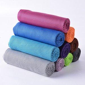10 colori asciugamano Ice Cold 30 * 80cm doppi strati istante magico di raffreddamento Asciugamani Estate Sunstroke Sport Fitness Quick Dry Asciugamani ZZA2319 120Pcs