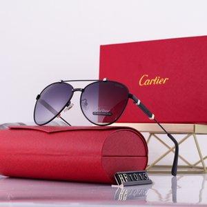 В 2020 году новейшие высокое качество золотой коробке мужские Авиатор солнцезащитные очки леди бренд дизайнер солнцезащитные очки с оригинальной упаковке