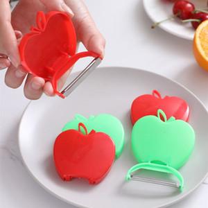 caldo pialla frutta piegatura portatile di sbucciatura coltello sbucciatore sbucciatore melone frutta pialla 2 zesters colore della verdura T2I51134