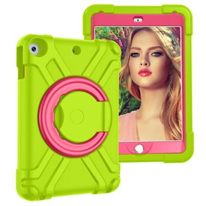 3 Layer Protection Case For iPad 10.2 2019 Edition 360 Rotating ShockProof Heavy Duty Silicone Stand Case For iPad 5 6 9.7 2017 2018
