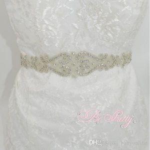 Novos Acessórios Do Casamento Cinto de Moda Artesanal De Cristal Strass Bead Ribbon Wedding Belt Nupcial Sash Para O Vestido de Noite Vestido de Festa CPA532