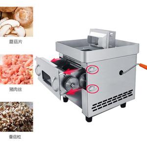 máquina desktop elétrica manual de dupla utilização de carne Cortador de máquina Pull-out Lâmina Shred Slicer cortar máquina comercial Meat Slicer
