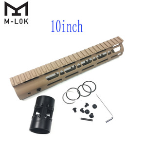 10 pollici M-LOK Handguard Light Design Fit AR15 (.223 / 5.56) Dado a barilotto in acciaio color tan