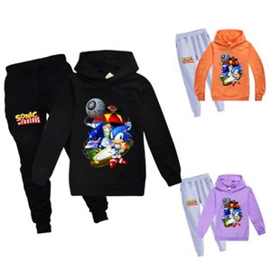 New 2020 Arrival Anime Sonic the Hedgehog Printed Hooded Sweatshirts Children Fashion Casual Pullover Funny Streetwear Hoodies