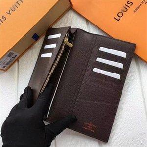 designer bolsas designer de carteira Louis Vuitton Mulheres Carteiras mens titular do cartão carteira designer de bolsa de couro genuíno com casa 7