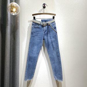 Les marchandises Europe 2020 Printemps et Automne New Style Femmes Pantalons Slim Fit Elasticité Skinny Jeans bleu Pantalons Crayon Nancylim