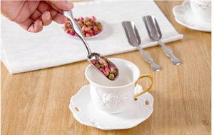 2 Pcs Lot Minimalist Stainless Steel Teaspoon Tea Shovel Essential Tea Teaspoon Tea Spoon