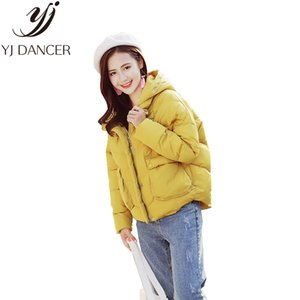 2018 Winter New Plus Size Fashion Women Casual Loose size Keep warm Hooded Cotton clothing Coat Female Cotton coat Ljj0054