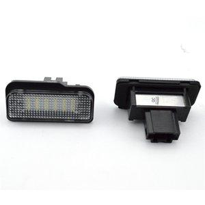 1 زوج سيارة LED لوحة ترخيص أضواء لمرسيدس W211 W203 W219 5D R171 لا خطأ بنز عدد الأبيض مصباح لوحة 12V