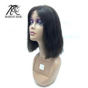 OCEANE HAIR Lace Closure Frontal Wigs Brazilian Hair 100% human Bob Short Remy Full end Straight for Black women Virgin hair