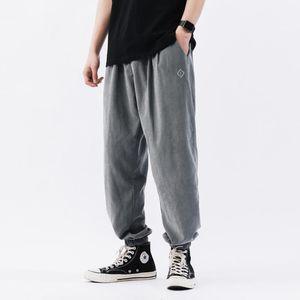 New Japanese Casual Pants Men Loose Cargo Harem Pants 2020 Hip Hop Mens Joggers Trousers Fashion Casual Streetwear Pant