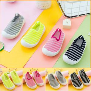 Net Net ayakkabı Balıkçılık Bebek Boys Kız Çocuk Yatağı Ayakkabı Yenidoğan Bebek Yumuşak Sole Prewalker Sneakers Kauçuk Çok renkli Seçeneği