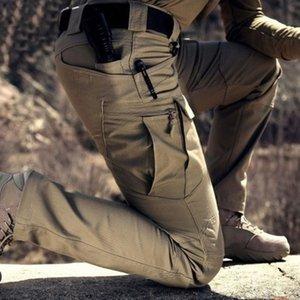 Mens Tacitcal pantalones elásticos múltiple de bolsillo hombre Pantalones Casual Male Pant Joggers la aptitud del tamaño extra grande de carga Hombres Pantalones