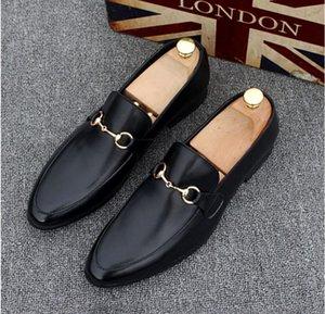 2019 erkek Ayakkabı Lüks Hakiki Deri Rahat Sürüş Oxfords Flats Ayakkabı Erkek Loafers Erkekler için Moccasins İtalyan düğün elbise ayakkabı 38-45