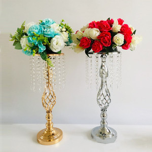 Rhinestone Candelabra Crystal Candlestick Candle Holder Table Centerpiece Vase Stand Home Romantic Candlestick For Wedding