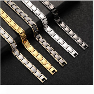 Magnetic Stone Therapy Bracelet for Health Titanium Steel Removable Wristband Fashion Trend Magnet Bangles for Men Women Free Shipping