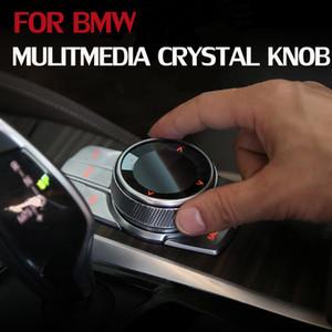 Pulsanti multimediali cristallo auto manopola dell'interruttore autoadesivi della copertura per 5 serie G30 G38 G08 X3 F46 F48 G01 X1 6 serie GT Interni