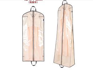 Bolsa de polvo transparente para vestidos de boda Fiesta de baile de noche Bolsas de vestido 180 * 60 * 20 CM Accesorio de boda Cubierta de ropa Almacenamiento de viaje Cubiertas de polvo