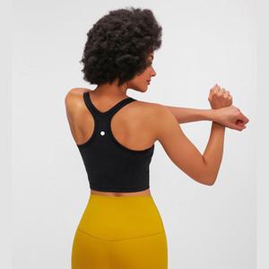 اليوغا أعلى للمرأة الرياضية الصدرية اللياقة البدنية أعلى الصدرية مع السيدات الأزياء وسادة الصدر مشد ضئيلة L-24