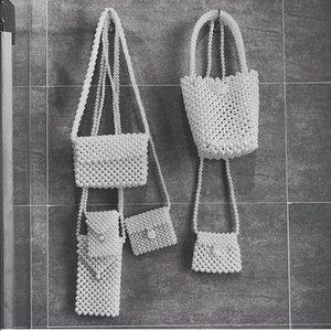 2019 Fashion Pearl bag ladies handbag beaded Bag Female Purse Handmade Evening Handbags bags for women Party Clutch