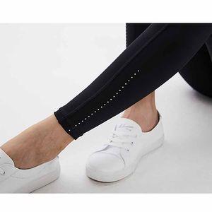 Pantalones de yoga para mujer Pantalones deportivos para mujer Leggings completos Trajes de yoga Ejercicio Ropa de fitness diseñador de mujer Pantalones de yoga de cintura alta L-022