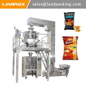 Multihead Linear Weigher Potato Chips Corn Flake Vertical Form Fill Seal Machine Puffed Sanck Packing Machine Precision Weighing