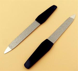 Poignée en plastique Limes à ongles double face Pro File à ongles Outil de pédicure de manucure DIY