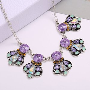 Crystal Necklace Women Vintage Choker Necklaces For Womens Collier Femme Dress Jewelry Collares 2020