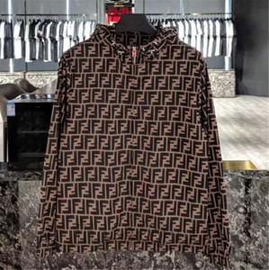 Primavera 2020 Coat Moda Cardigan con cappuccio blocchetto di Sun Zipper Trench sottile di New Letters uomini e donne