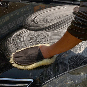 Nettoyage Entretien automobile Brosses de polissage Mitten Brosse Super Clean Car Wash Laine Gant de nettoyage Soft Care outil Accessoires gros DBC BH2889