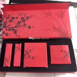 Nueva llegada Marca M Plum Blossom Maquillaje Set 9 colores Paleta Sombra de ojos + Blush + 2Pcs Matte Bullet Lipstick 4 en 1 Maquillaje Cosmético Set