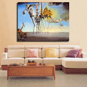 سلفادور دالي السريالية تجريدي جدار الفن قماش ملصقات أختام جدارها صور لغرفة نوم ديكور المنزل