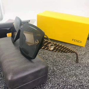 2019 nueva venta de letras Luxury- clásico de alta calidad piloto clásicas gafas de sol grandes del marco Lentes de gafas de metal de vidrio de 7 colores