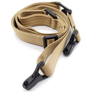 Réglable Multi-fonction MS3 2 Points avec logo Tactique Airsoft Gun Sling Rifle Sling Bungee sangle de sécurité en métal bouton sangle en nylon ar15