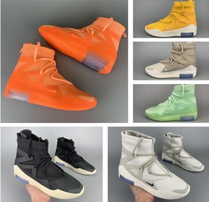 Top quality Fear of God x NK 1 Orange Pulse casual shoes mens classic outdoor walking shoes FOG fashion luxury designer sneakers
