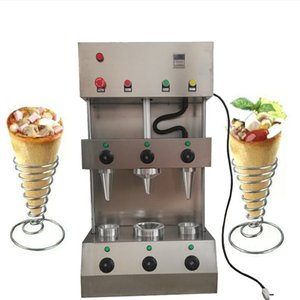 New design of two cones and an umbrella pizza cone machine   easy to operate Kono pizza machine health food machine