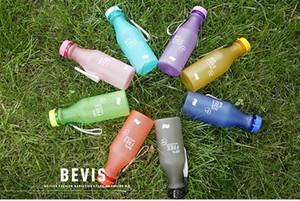 550ml Wasser-Flaschen-Süßigkeit-Farben-Unbreakable Frosted Leak-Proof Kunststoff Kessel 18 Unzen BPA frei bewegliche Wasserflasche für Yoga Lauf Camping