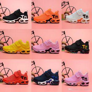 New designer toddler kids Mercurial TN Breathable tn Plus Rainbow Mesh Running Sneakers tns children pour enfants Athletic sport trainersvv