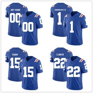 NCAA 플로리다 게이터 22 Emmitt Smith 15 Tim Tebow 1 Vernon Hargreaves Mens College Football Jerseys Stitched logos 사용자 정의 저지 Retro version