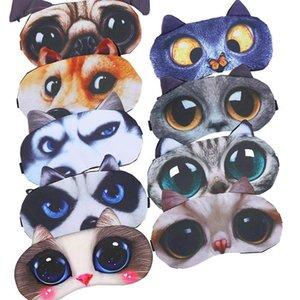 Halloween 3D-Cartoon-Tiermuster-Augen-Schablonen-Farbton-Abdeckung Blindfold Rest-Schlaf-Augenklappe 3D Schlafen Eyepatch Massage Geschenke Relax