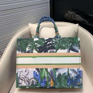 Diseños de diseñador de alta calidad, lienzo de mano bordado con coco de señora de nuevo estilo, bolso de compras de gran capacidad y bolso para 2019