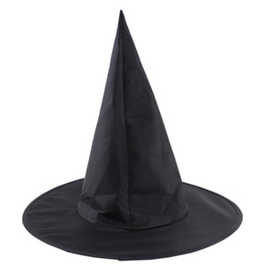 Spire Hat Witch Costume Acessório Cosplay Partido trajes de Halloween Witch Hat Masquerade Black Wizard Fancy Dress Decor JK1909